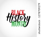 black history month vector... | Shutterstock .eps vector #1278709279