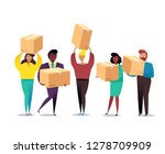 cardboard boxes concept with... | Shutterstock .eps vector #1278709909