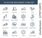 machinery icons. trendy 16... | Shutterstock .eps vector #1278712870