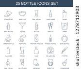 25 bottle icons. trendy bottle...   Shutterstock .eps vector #1278712903