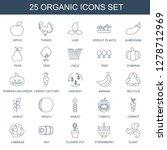 25 organic icons. trendy... | Shutterstock .eps vector #1278712969