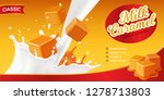 realistic caramel poster... | Shutterstock .eps vector #1278713803