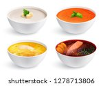 bowls full of chicken noodle... | Shutterstock .eps vector #1278713806