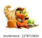 thanksgiving or golden horn of... | Shutterstock .eps vector #1278713833