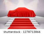 luxury car covered with red... | Shutterstock .eps vector #1278713866