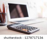 selective focus calculator on... | Shutterstock . vector #1278717136