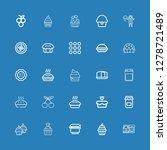 editable 25 jam icons for web... | Shutterstock .eps vector #1278721489