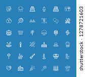 editable 36 birthday icons for... | Shutterstock .eps vector #1278721603