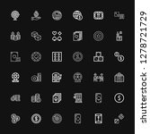 editable 36 bet icons for web... | Shutterstock .eps vector #1278721729