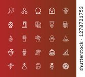 editable 25 halloween icons for ... | Shutterstock .eps vector #1278721753