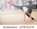 adult woman practices aero anti ... | Shutterstock . vector #1278722170