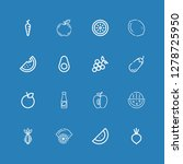 editable 16 ripe icons for web... | Shutterstock .eps vector #1278725950