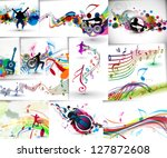 Music Notes Wave Line For...