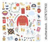 cute winter hygge style vector... | Shutterstock .eps vector #1278727933