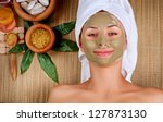 Spa Mud Mask. Woman In Spa...