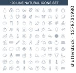 natural icons. trendy 100... | Shutterstock .eps vector #1278731980