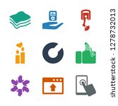 9 hand icons. trendy hand icons ... | Shutterstock .eps vector #1278732013