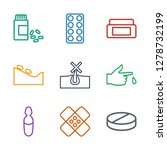 9 treatment icons. trendy... | Shutterstock .eps vector #1278732199