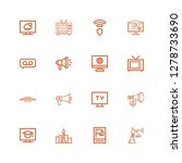 editable 16 broadcasting icons... | Shutterstock .eps vector #1278733690