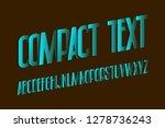 compact text alphabet. blue... | Shutterstock .eps vector #1278736243
