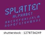 splatter alphabet. letters of... | Shutterstock .eps vector #1278736249