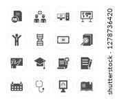 16 pdf document  group of... | Shutterstock .eps vector #1278736420