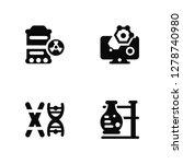 vector illustration of 4 icons. ... | Shutterstock .eps vector #1278740980