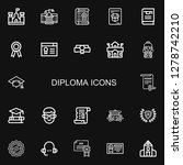 editable 22 diploma icons for... | Shutterstock .eps vector #1278742210