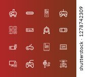 editable 16 controller icons...   Shutterstock .eps vector #1278742309