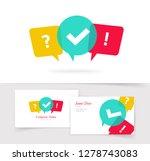 quiz vector logo and business... | Shutterstock .eps vector #1278743083
