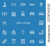 editable 22 seat icons for web... | Shutterstock .eps vector #1278745210