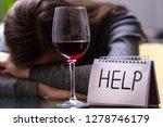 female alcoholism concept....   Shutterstock . vector #1278746179