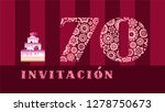 color card with the number 70... | Shutterstock .eps vector #1278750673