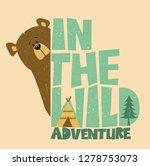 bear. cute bear. illustration... | Shutterstock .eps vector #1278753073