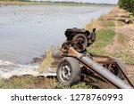 machine pumping water into rice ... | Shutterstock . vector #1278760993