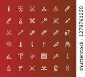 editable 36 sharp icons for web ... | Shutterstock .eps vector #1278761230