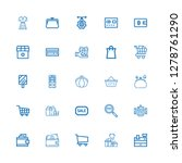editable 25 shopping icons for...