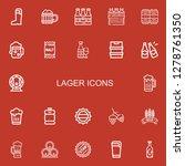 editable 22 lager icons for web ... | Shutterstock .eps vector #1278761350