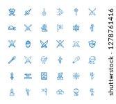 editable 36 sword icons for web ... | Shutterstock .eps vector #1278761416