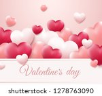 valentines day background with... | Shutterstock .eps vector #1278763090