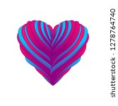 heart with ribbons illustration ...   Shutterstock .eps vector #1278764740