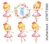 set of blond ballerina princess ... | Shutterstock . vector #1278772060