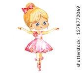 blond ballerina princess...   Shutterstock . vector #1278772069