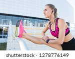 woman fitness model stretching... | Shutterstock . vector #1278776149