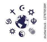 world religion symbols | Shutterstock .eps vector #1278785389