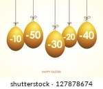 easter yellow eggs  sale tags