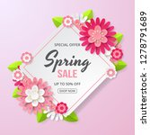 spring sale banner with... | Shutterstock .eps vector #1278791689