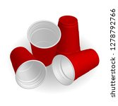 red cups  it's party time on... | Shutterstock .eps vector #1278792766