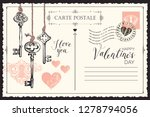 valentine card in form of... | Shutterstock .eps vector #1278794056