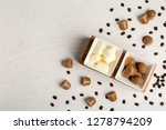 flat lay composition with milk... | Shutterstock . vector #1278794209